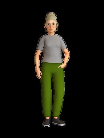 Stylish woman 3D Illustration