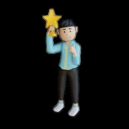 Successful Businessman 3D Illustration