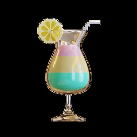 Summer Cocktail 3D Illustration