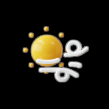 Sunny weather 3D Illustration