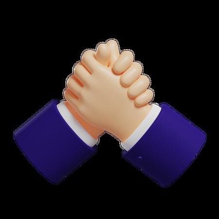 Support Hand Gesture 3D Illustration