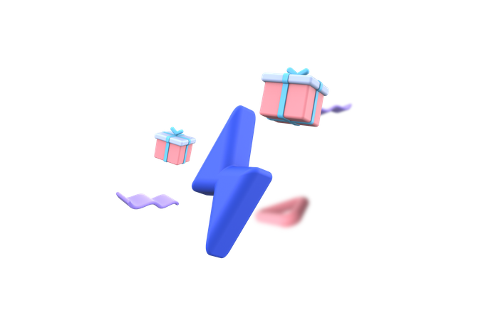 Surprise gift 3D Illustration