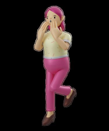 Surprised face 3D Illustration
