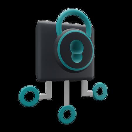 System Security 3D Illustration