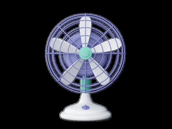Table Fan 3D Illustration