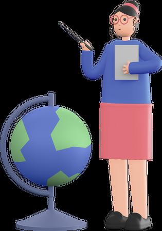 Teacher 3D Illustration