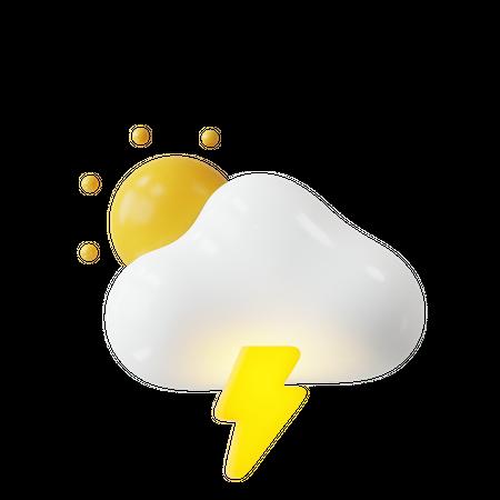 Thunder 3D Illustration
