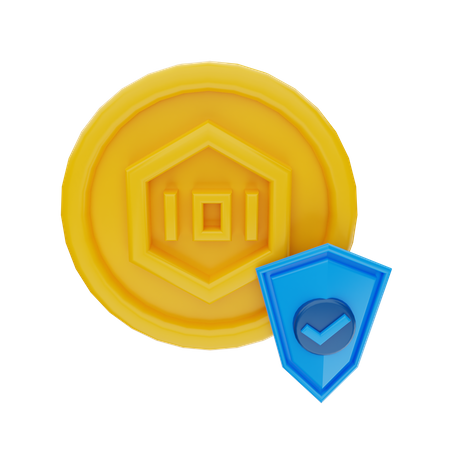 Token Protection 3D Illustration