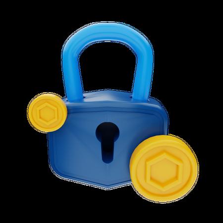 Token Security 3D Illustration