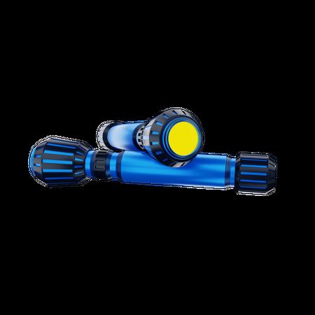 Torch 3D Illustration