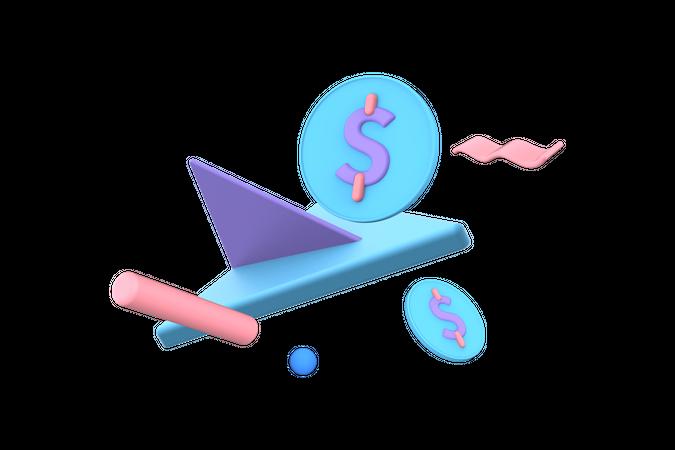 Transfer money 3D Illustration