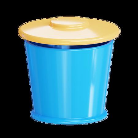 Trash 3D Illustration