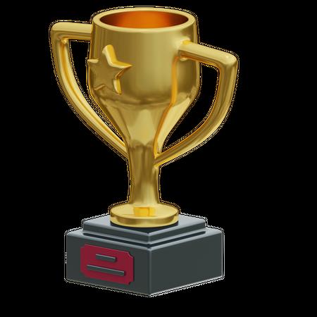 Trophy 3D Illustration