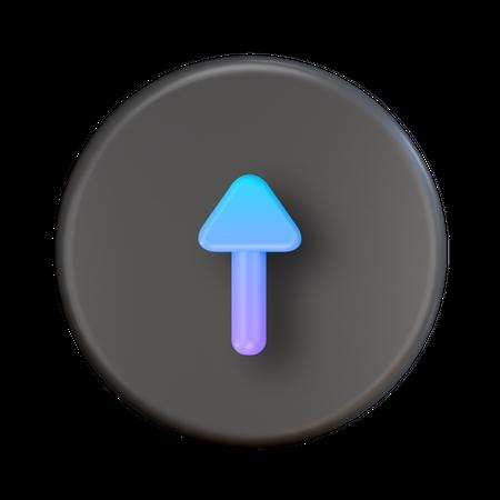 Upload Arrow 3D Illustration