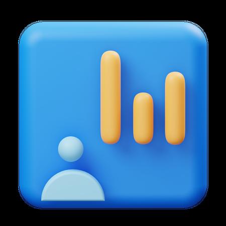 User performance 3D Illustration