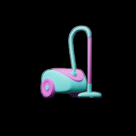 Vacuum Cleaner 3D Illustration