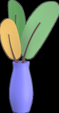 Vase plant 3D Illustration