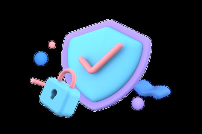 Verify Security 3D Illustration