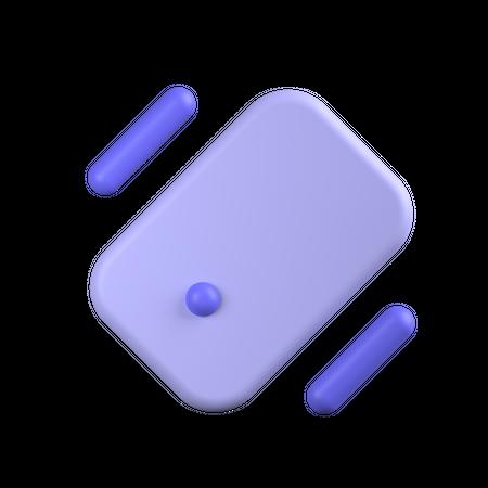 Vibrate Phone 3D Illustration