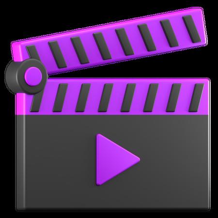 Video Clip 3D Illustration