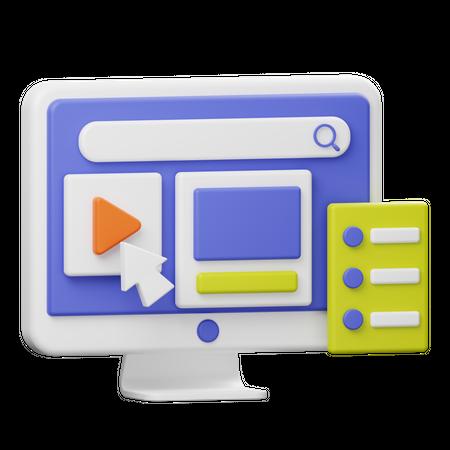 Video Marketing 3D Illustration