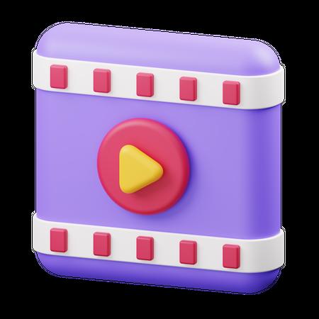 Video Player 3D Illustration