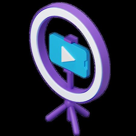 Video Streaming 3D Illustration