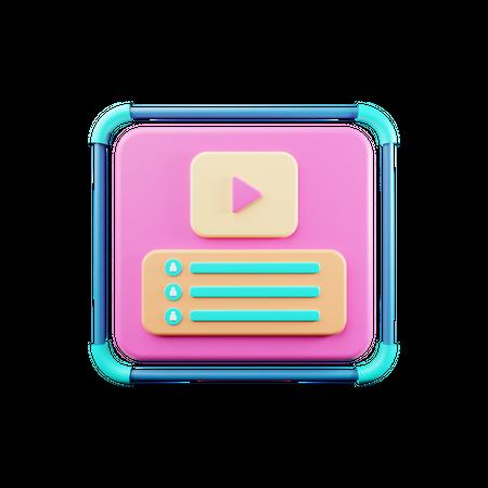 Video Vlogger 3D Illustration