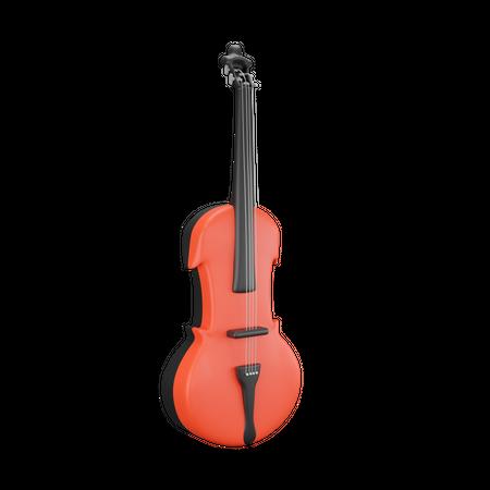 Violin 3D Illustration