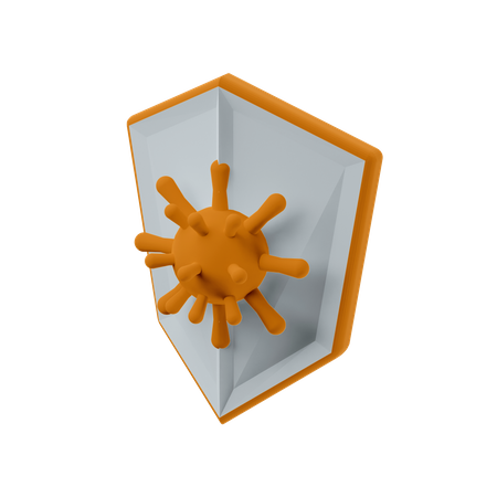 Virus Protection 3D Illustration