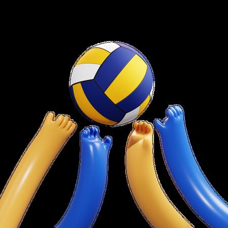 Volleyball 3D Illustration