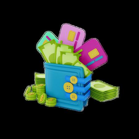 Wallet 3D Illustration
