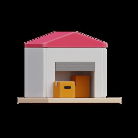 Warehouse 3D Illustration