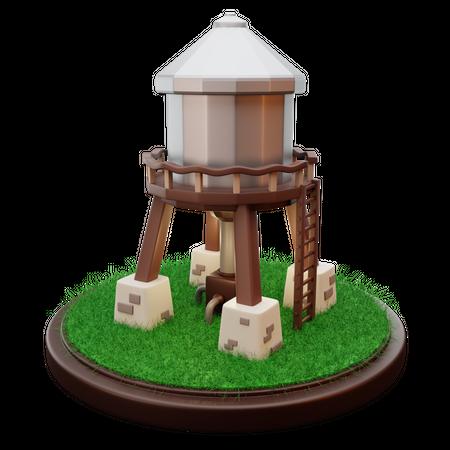 Water Tank 3D Illustration