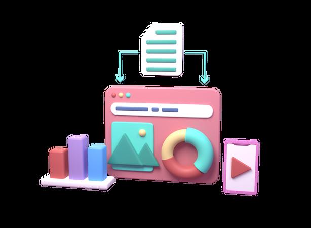 Web 3D Illustration