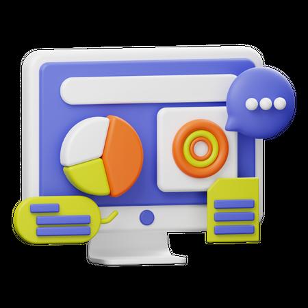 Web Analysis 3D Illustration