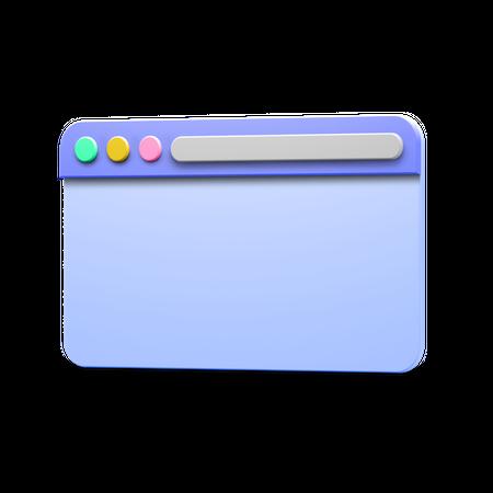 Web Browser 3D Illustration