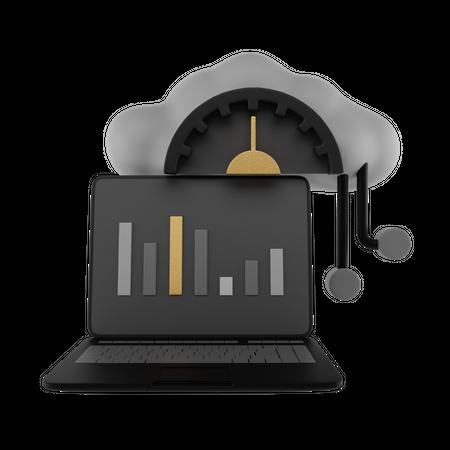Web Dashboard 3D Illustration