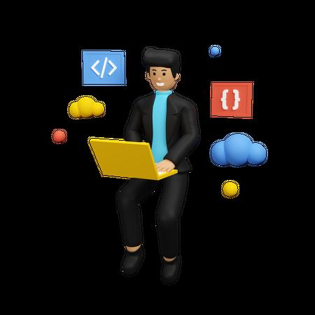Web Developer 3D Illustration