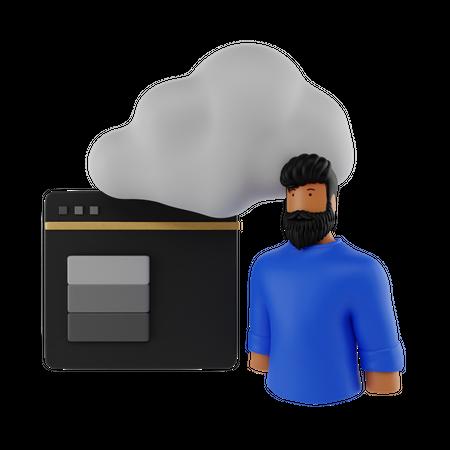 Web Hosting 3D Illustration