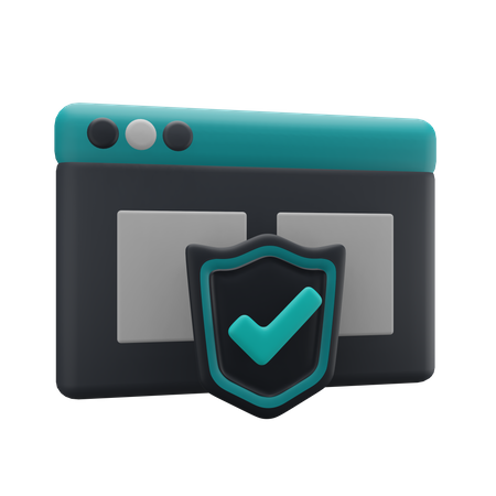 Web Security 3D Illustration