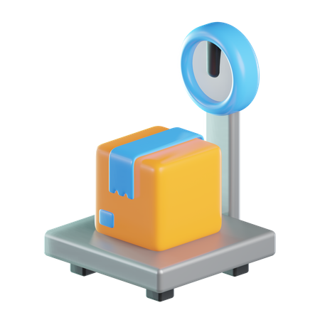 Weight Scale 3D Illustration