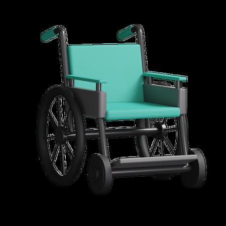 Wheelchair 3D Illustration