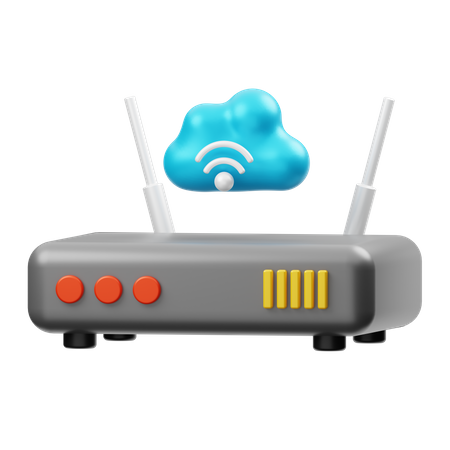 Wifi Router 3D Illustration