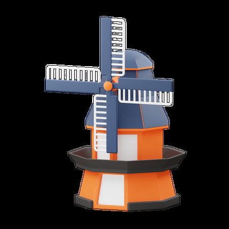 Windmill 3D Illustration