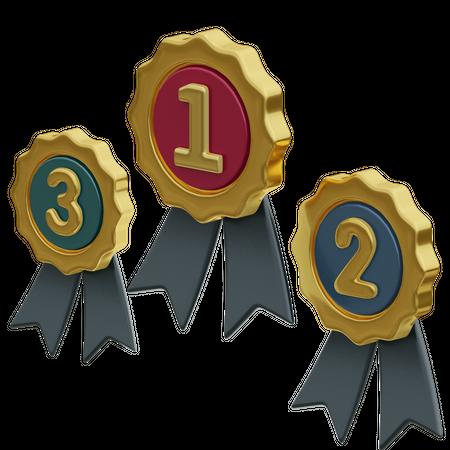 Winner Badge 3D Illustration