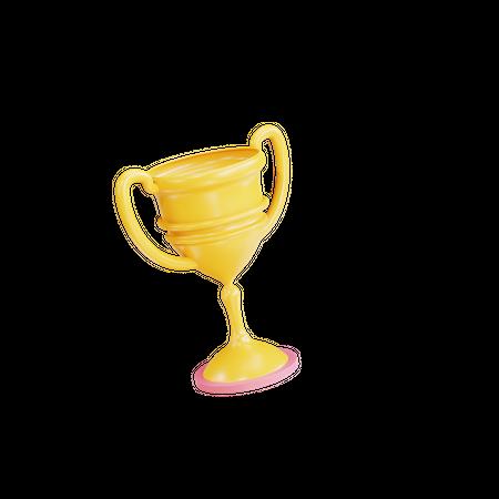 Winner Trophy 3D Illustration