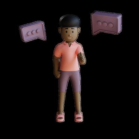 Woman Talking 3D Illustration