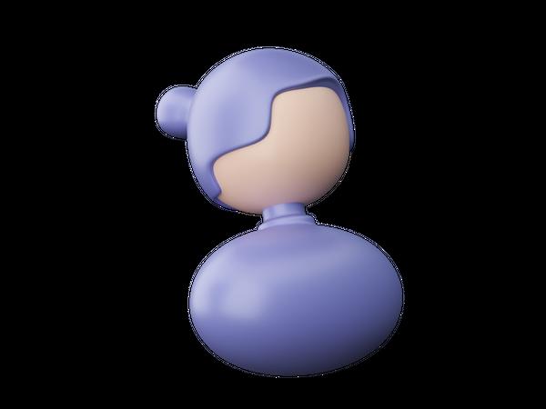 Woman user 3D Illustration