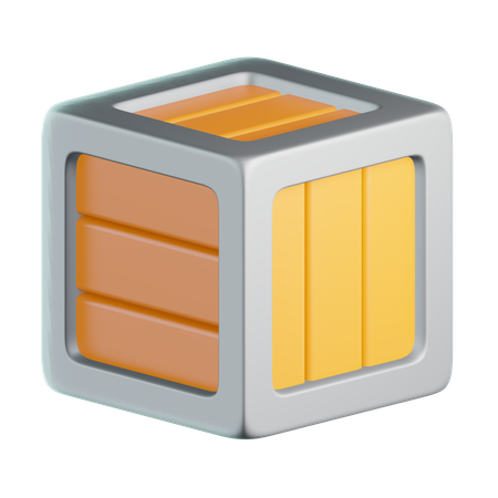 Wooden Box 3D Illustration